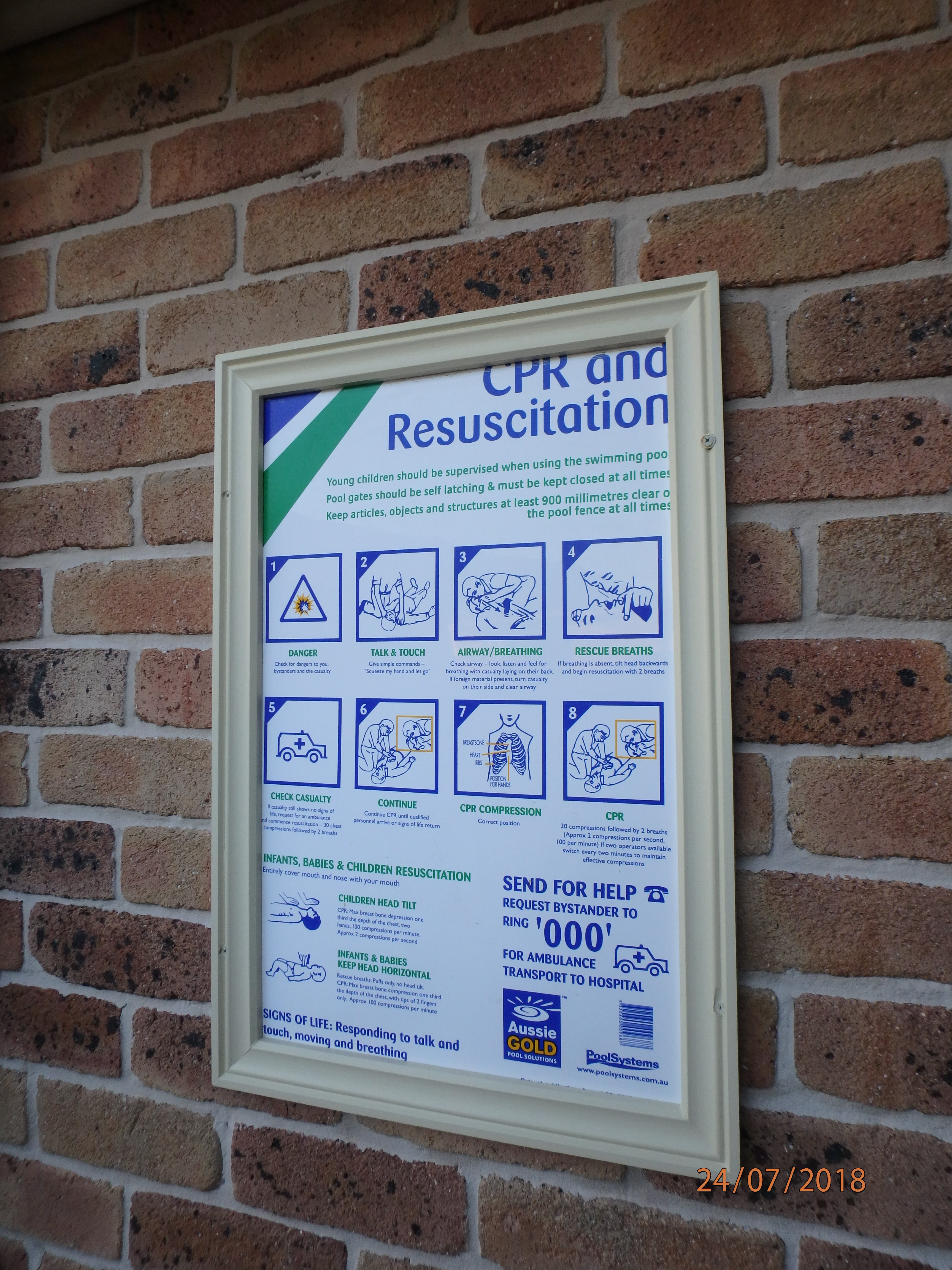 east coast building and pest services cpr chart on the wall